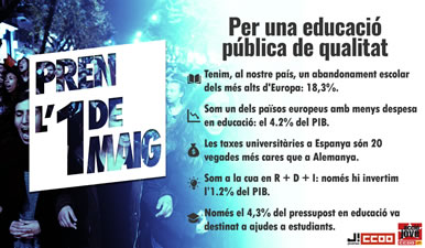 Cartell d'Acció Jove per una educació pública de qualitat