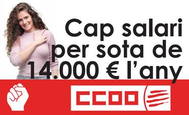 Cap salari per sota de 14.000 € l'any