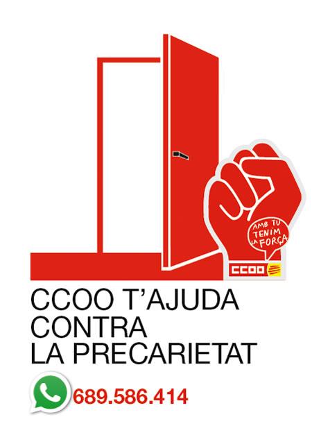 CCOO t'ajuda contra la precarietat