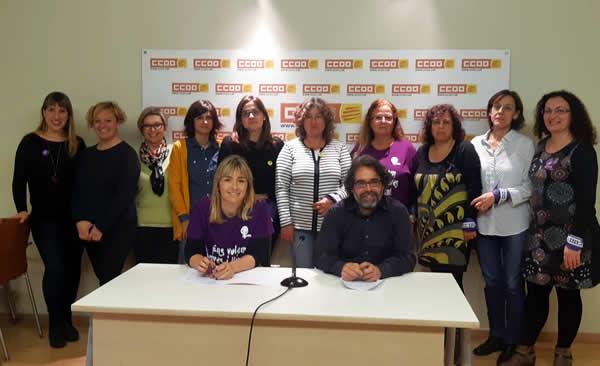 Delegades de CCOO de Catalunya del sector de l'Educació
