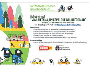 "Debat virtual ""Via Laietana, un espai que cal reformar"""