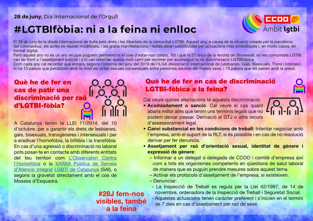 LGTBIfòbia: ni a la feina ni enlloc