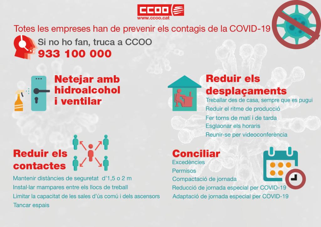 Totes les empreses han de prevenir els contagis de la COVID-19