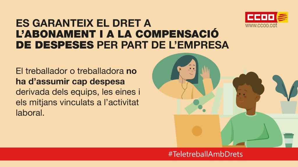Es garanteix el dret a l'abonament i a la compensació de despeses per part de l'empresa