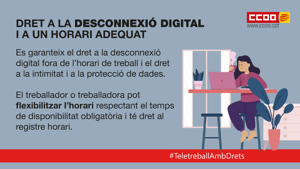 Dret a la desconnexió digital i a un horari adequat