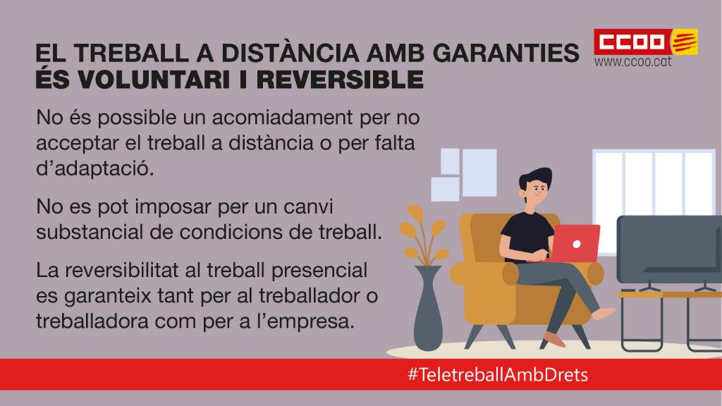 El treball a distància amb garanties és voluntari i reversible.
