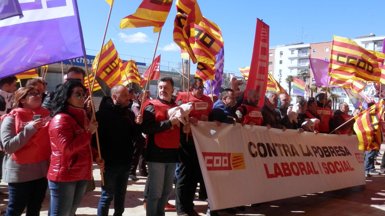 CCOO de Lleida contra la pobresa laboral