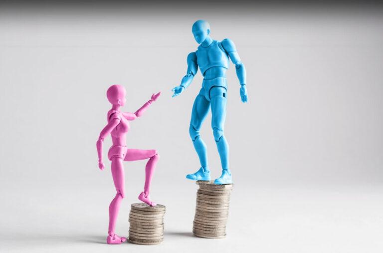 Ninots amb monedes. Bretxa salarial
