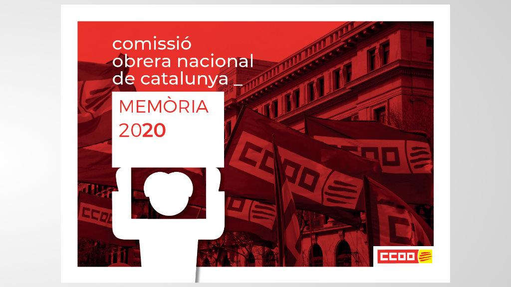 Memòria d'activitat de CCOO de Catalunya 2020