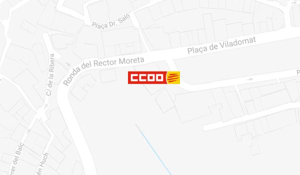 Mapa de situació de CCOO a Berga