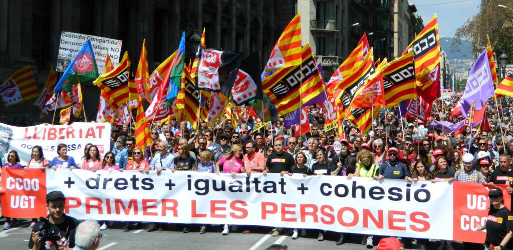 Manifestació de l'1 de Maig del 2019
