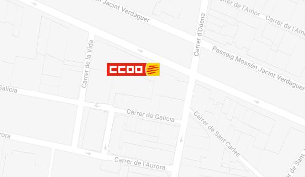 Mapa de situació de CCOO a Igualada