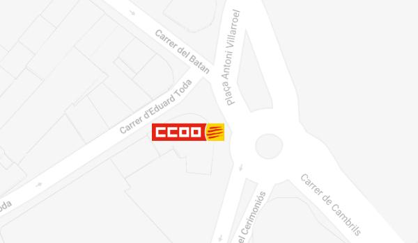 Mapa de situació de CCOO a Reus