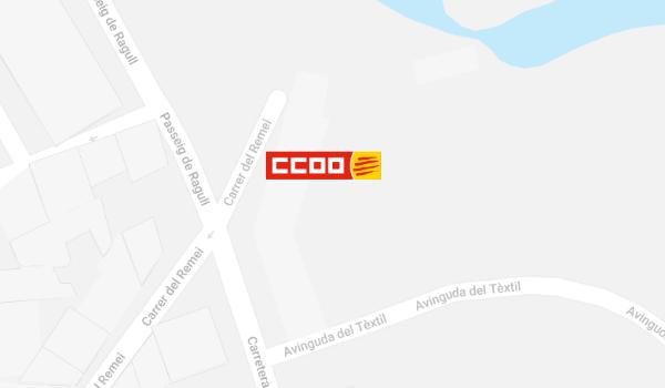 Mapa de situació de CCOO a Ripoll