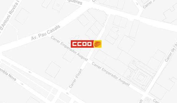 Mapa de situació de CCOO a Tarragona
