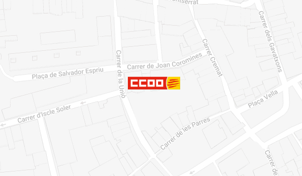 Mapa de situació de CCOO a Terrassa