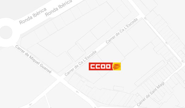 Mapa de situació de CCOO a Vilanova i La Geltrú
