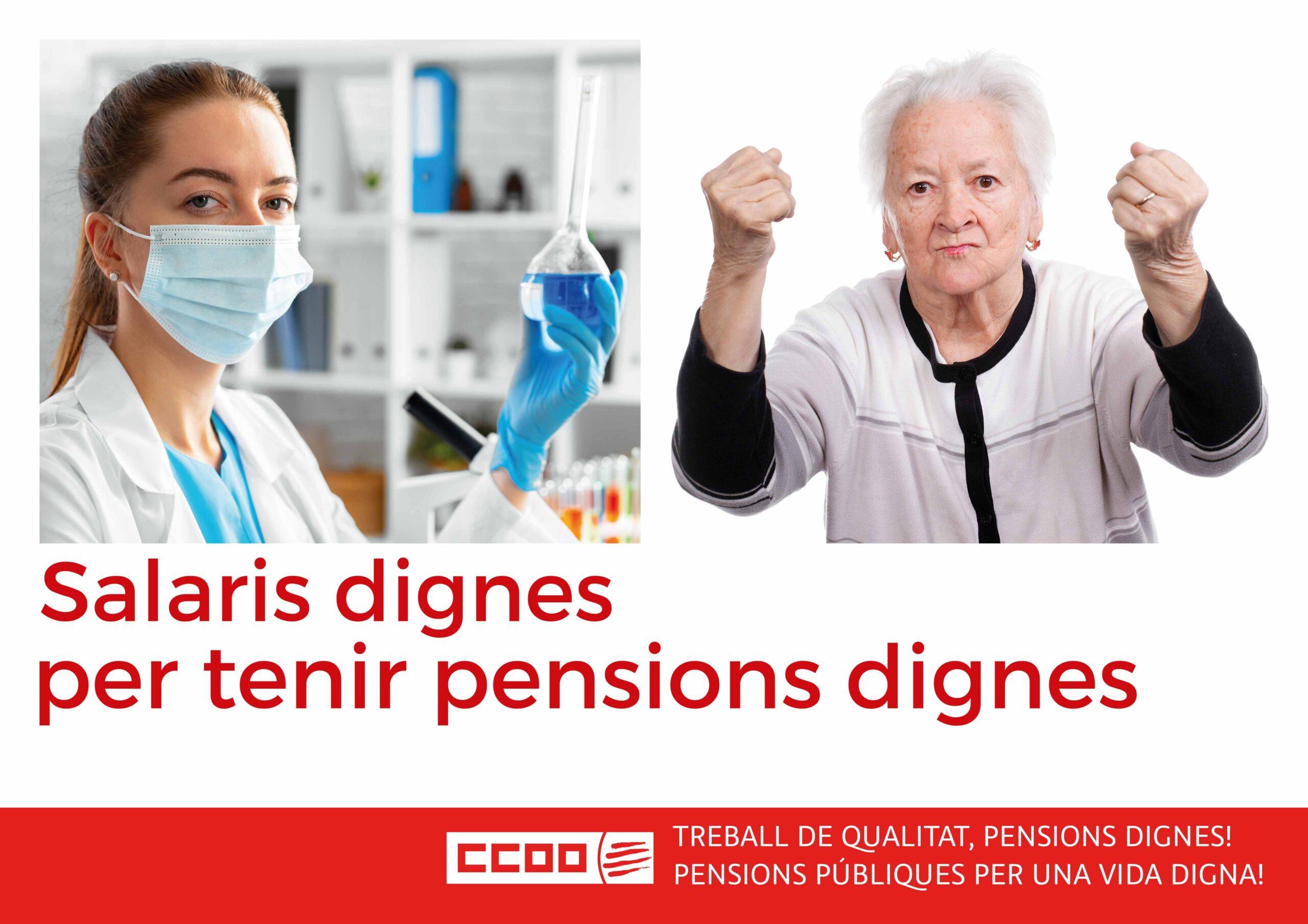 Cartell de la campanya de Pensions 2021