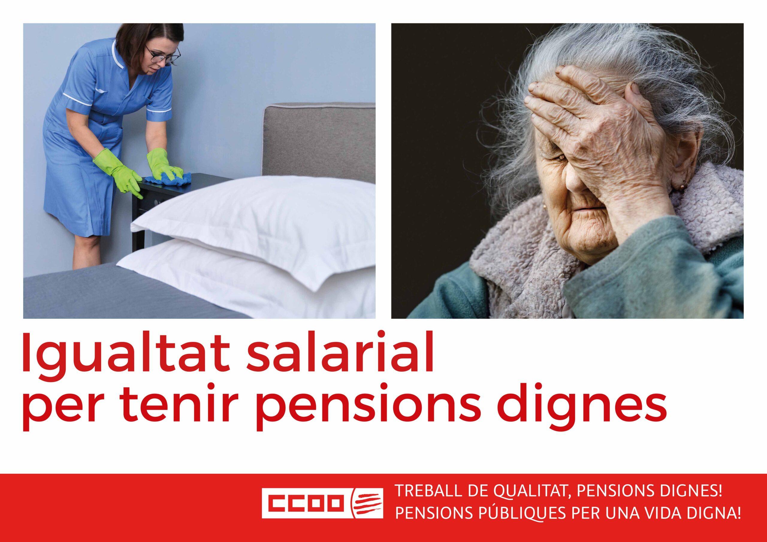 Igualtat salarial per tenir pensions dignes