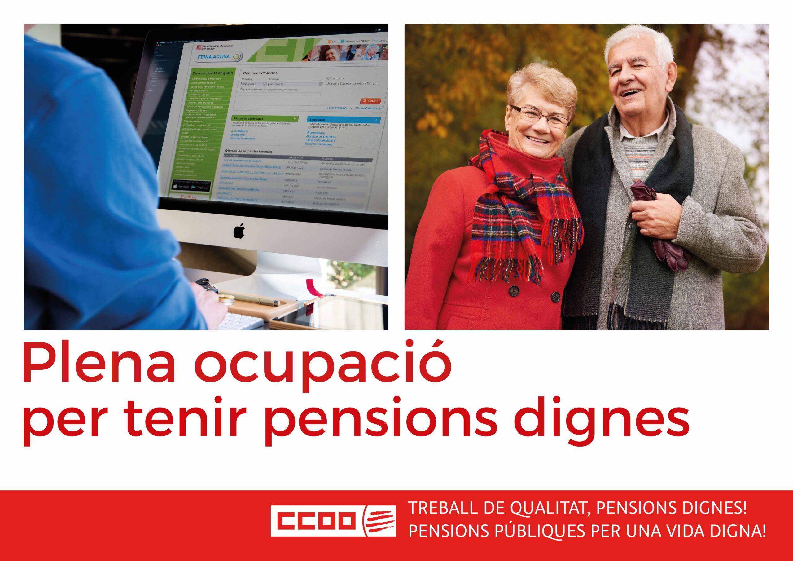 Plena ocupació per tenir pensions dignes