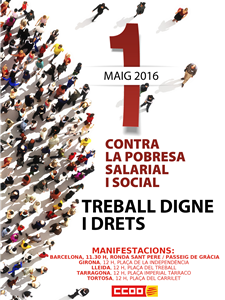 cartell 1 maig 2016 manifestacions