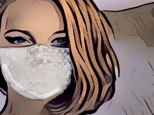 dona amb mascareta salut
