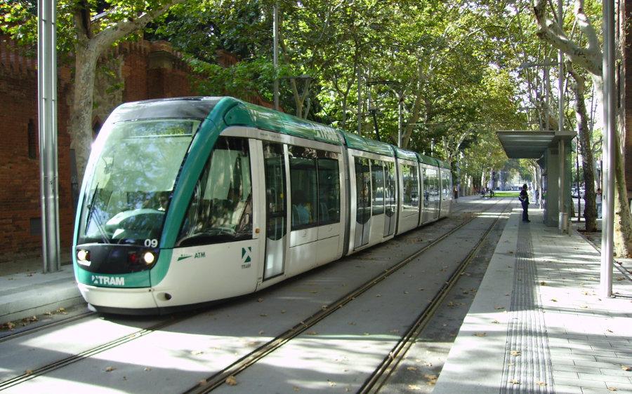 Tram a la Ciutadella