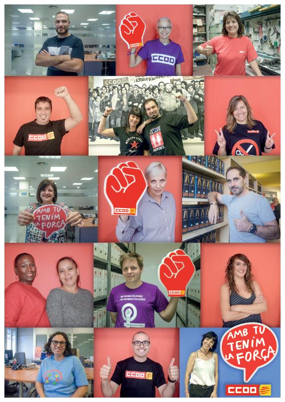 Cartell de la campanya 'Amb tu tenim la força'