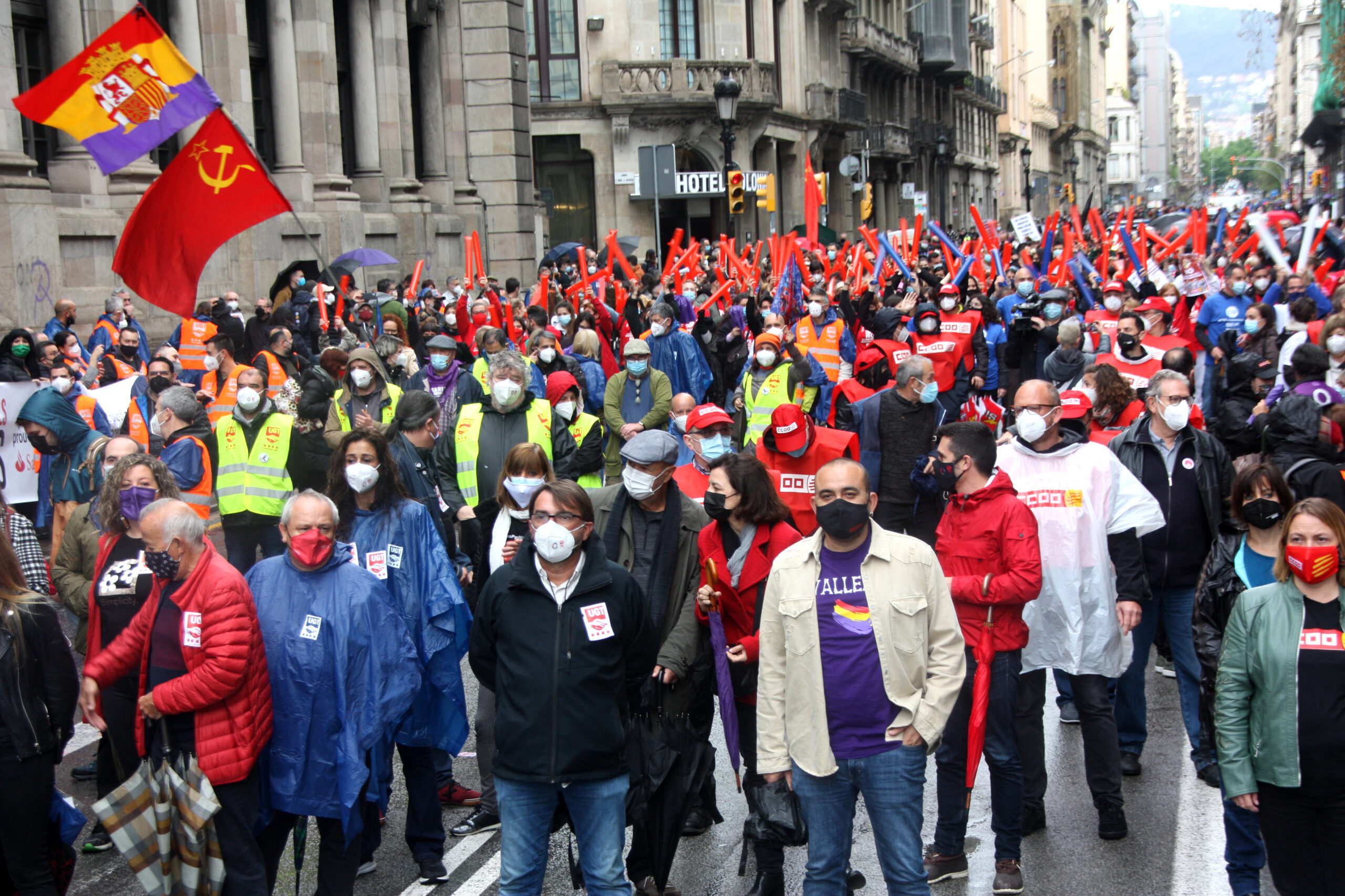 Concentració de l'1 de Maig de 2021 a Barcelona
