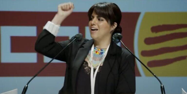 Liliana Reyes al 12è Congrés de CCOO de Catalunya