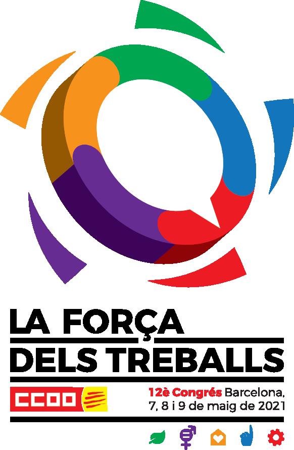 Logo del 12è Congrés horitzontal, amb icones, llegenda i data