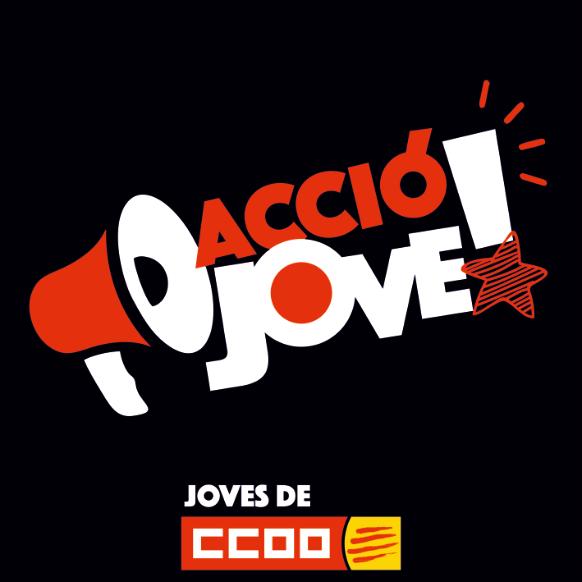 Logo d'Acció Jove - Joves de CCOO de Catalunya en negre