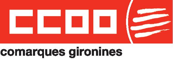 Logo de CCOO de les Comarques Gironines en vermell
