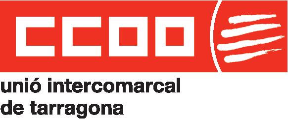 Logotip de CCOO de Tarragona en vermell