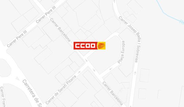 Mapa de localització de l'Oficina del CITE a Berga