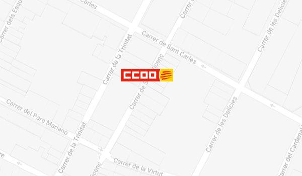 Mapa de localització de l'Oficina del CITE a Igualada