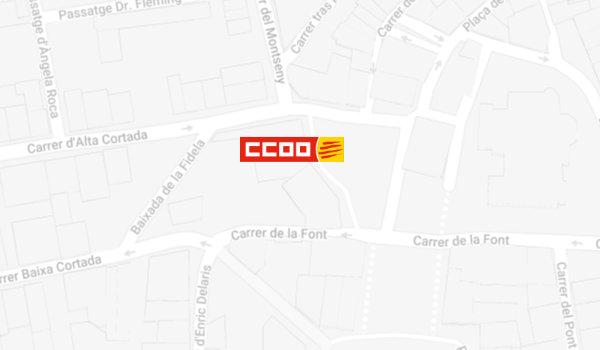 Mapa de localització de l'Oficina del CITE a Manlleu
