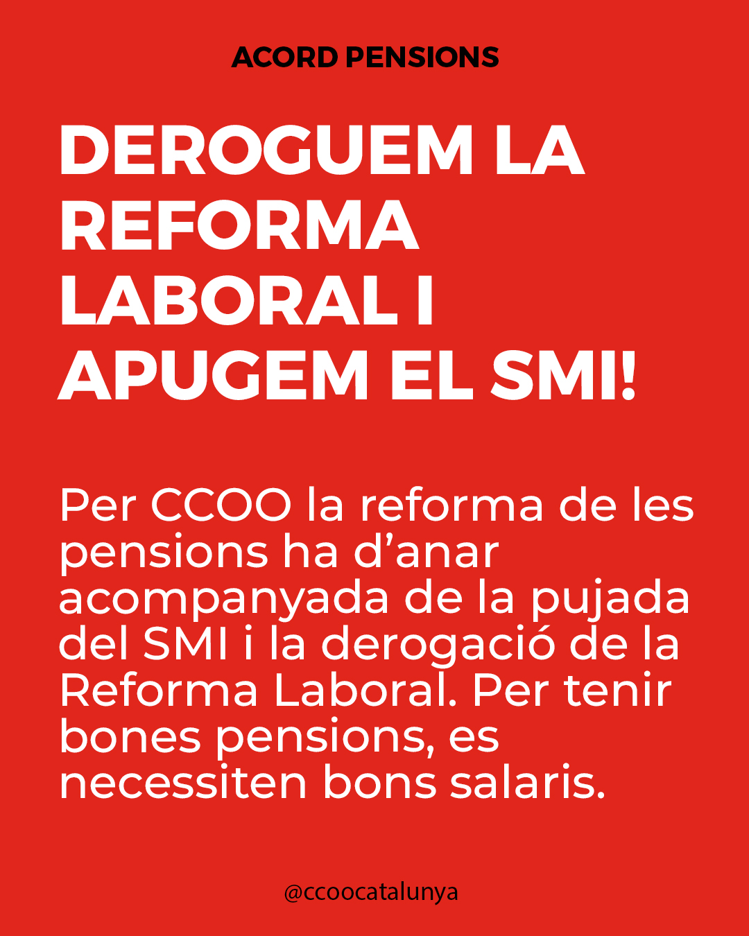 Deroguem la reforma laboral i apugem el SMI!