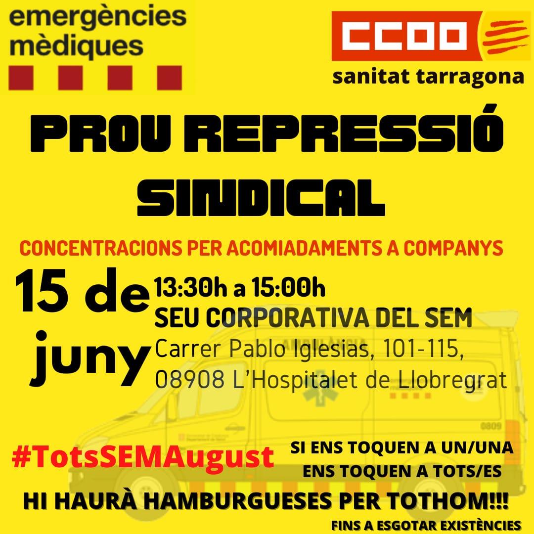Contra Repressio Sindical Sanitat Tarragona 15j