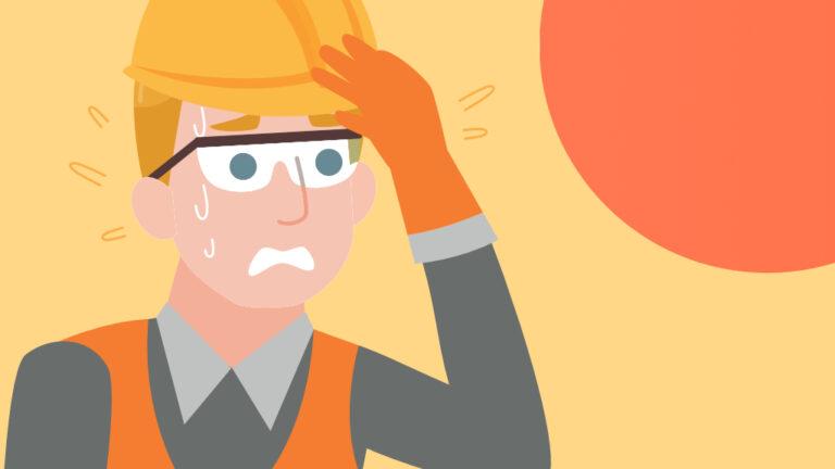 Estrès tèrmic per calor en treballs a l'exterior