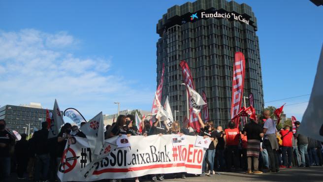 Protesta Caixabank Vaga 2 De Juny