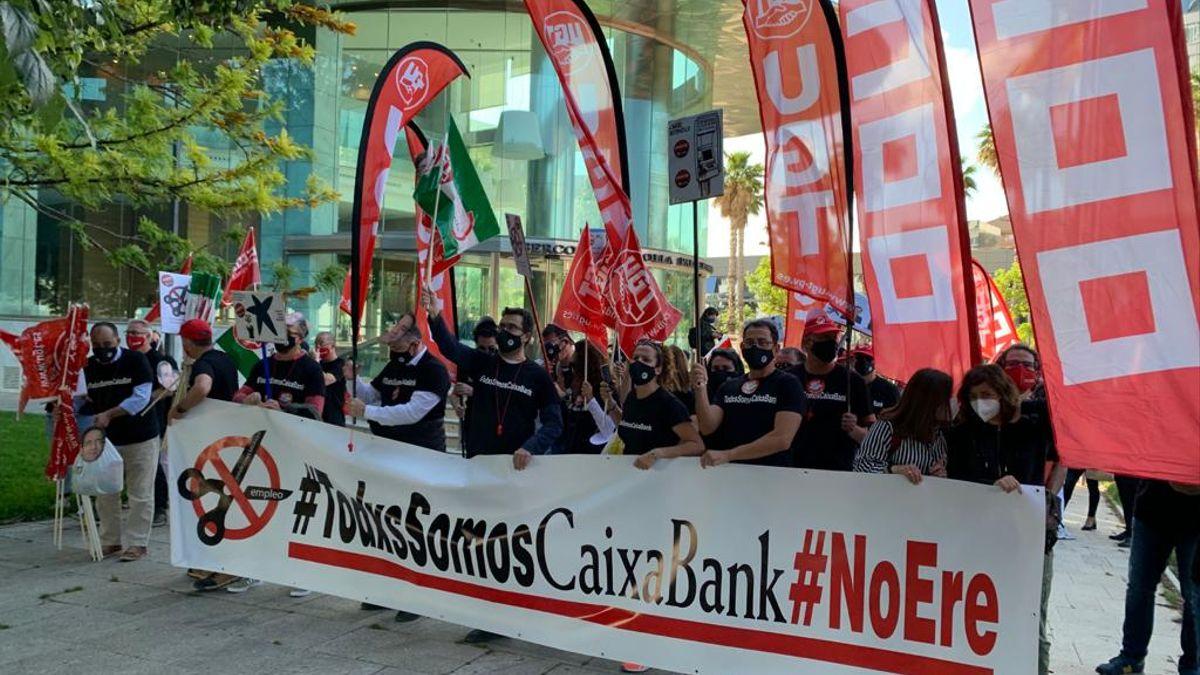 Protestes Caixabank Aturada 7 De Juny