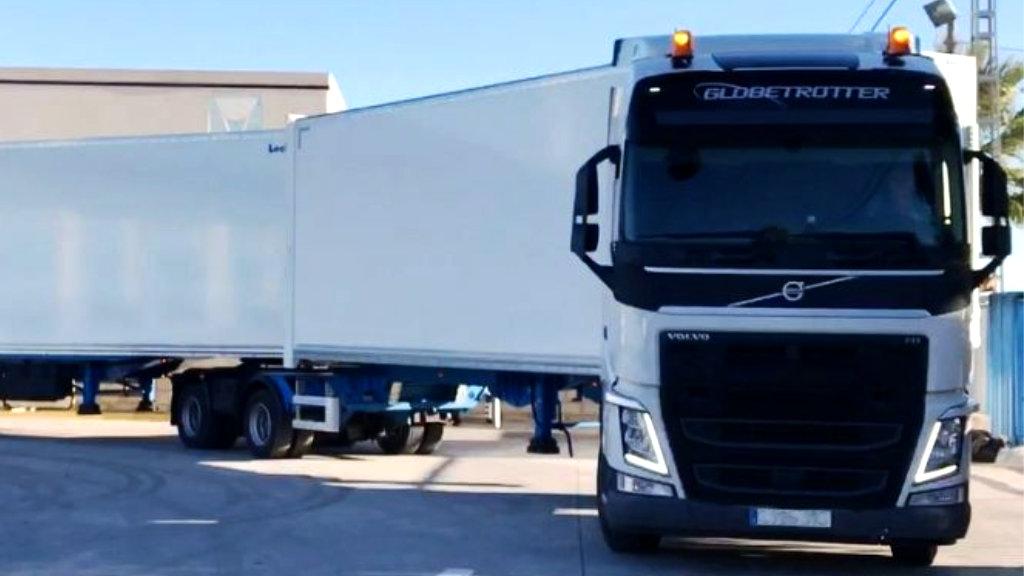 Camió de transport internacional d'Avitrans