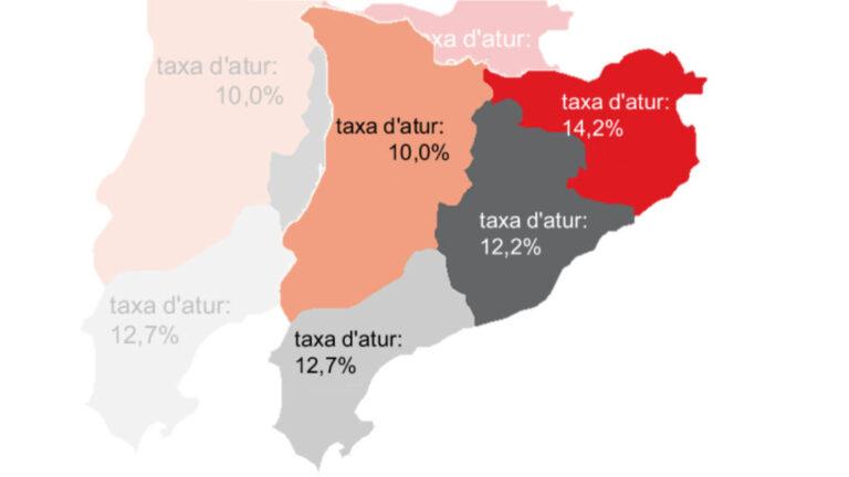 Mapa de Catalunya EPA del segon trimestre del 2021