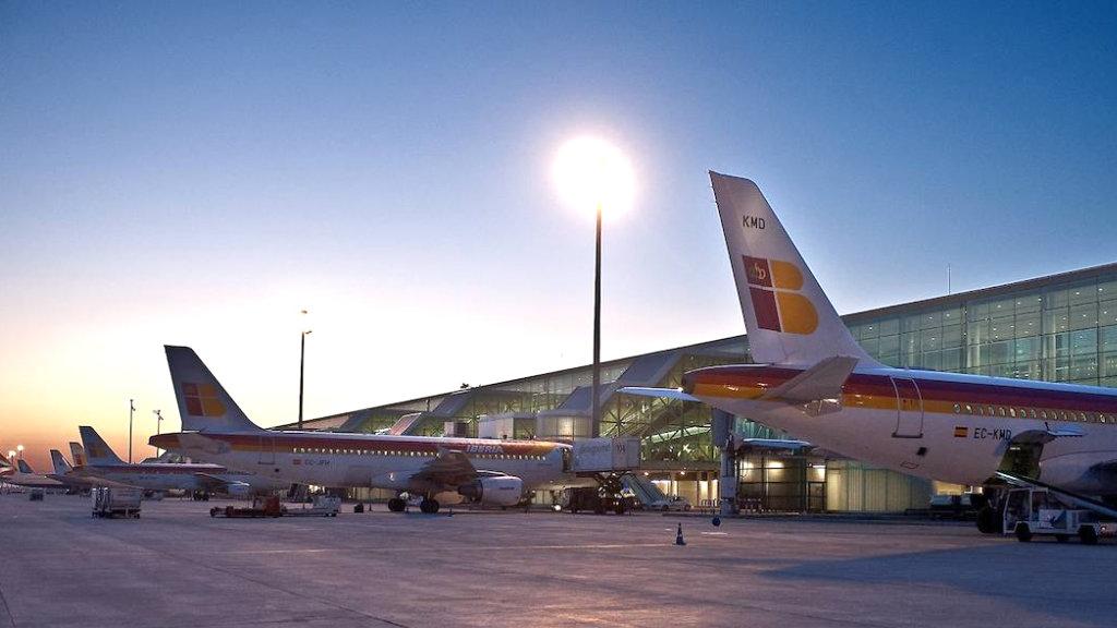 Avions d'Iberia a l'aeroport d'El Prat