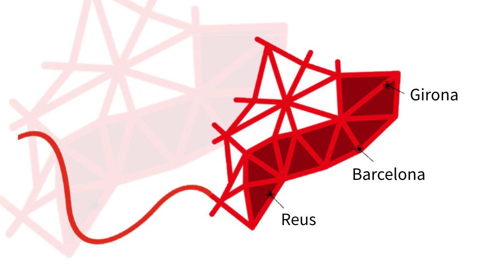 Mapa de Catalunya amb els locals on pots utilitzar el servei d'orientació