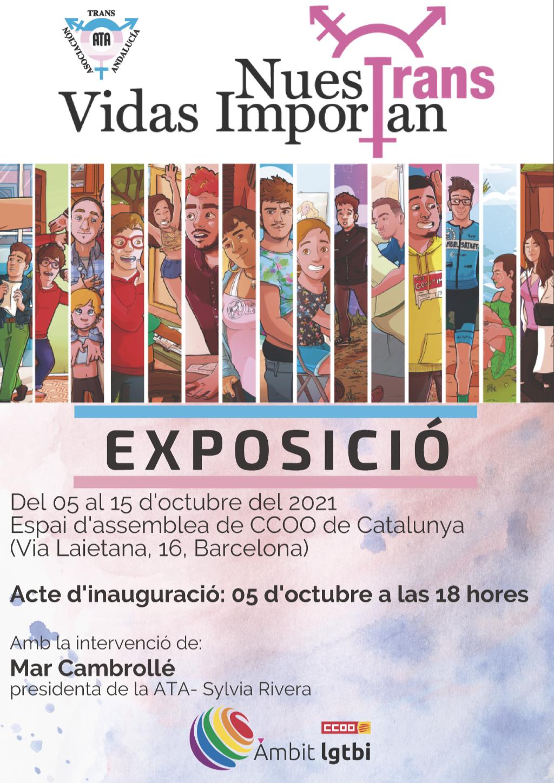Cartell de l'exposició Nuestrans Vidas Importan