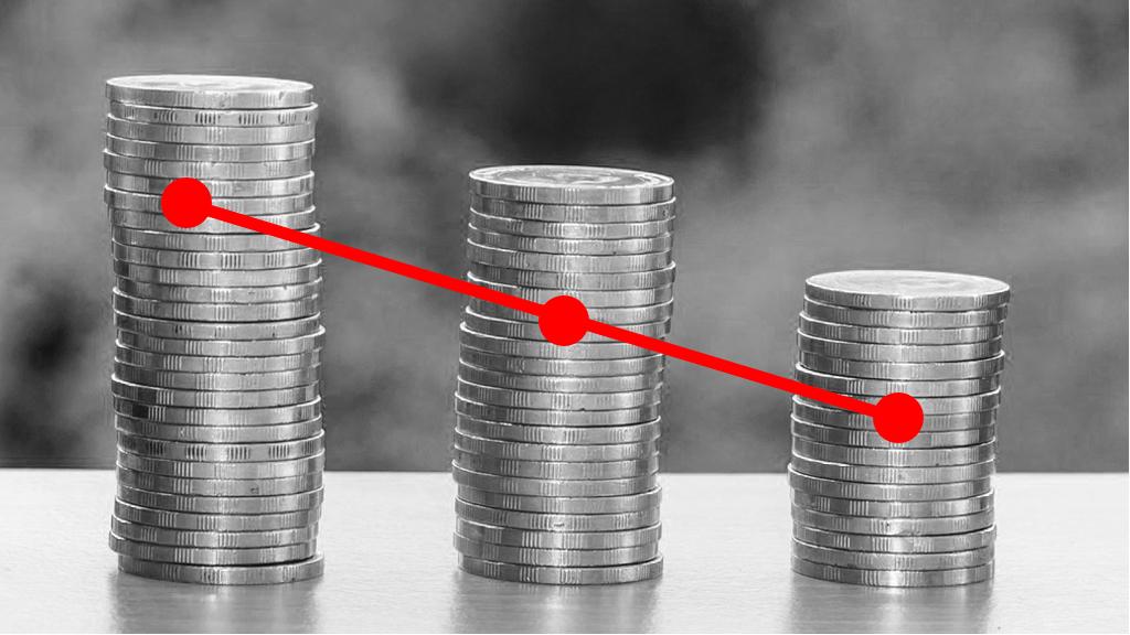 Devaluació salarial, pèrdua de poder adquisitiu. Euros