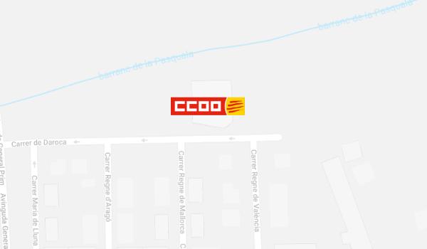 Mapa del local de CCOO a Montblanc, a Concactiva